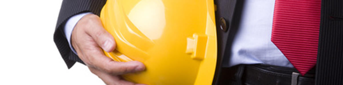 engineer yellow helmet for workers security (over white)